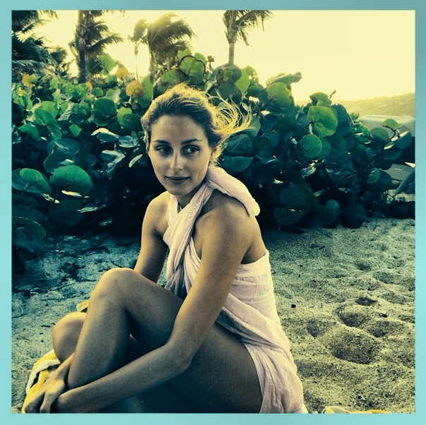 Olivia Palermo (who is newly engaged!) kept her look low-key on vacation with her honey. Source: Instagram user therealoliviap