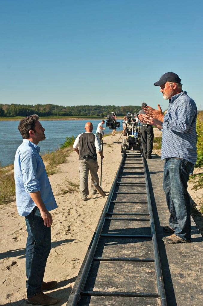 Director David Fincher gave Affleck direction on the Missouri set.