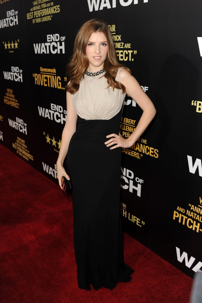 Anna Kendrick hit the red carpet for the End of Watch premiere in LA.