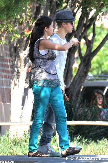 Justin Bieber and Selena Gomez held hands on the set of her movie  Parental Guidance Suggested.