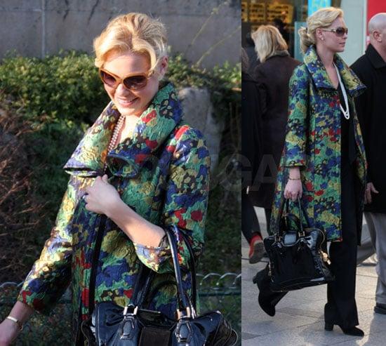 Katherine Heigl Shopping in Paris
