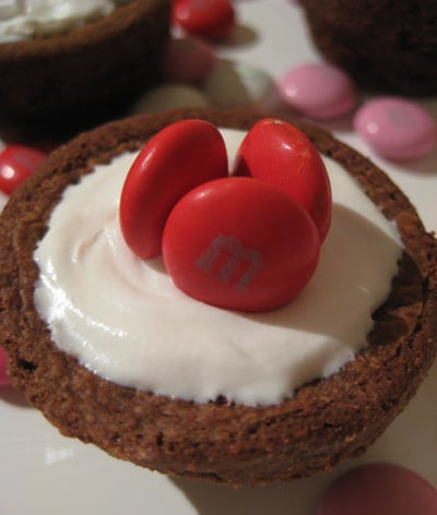 Bite of Love: Colorful Candy Brownie Cupcakes