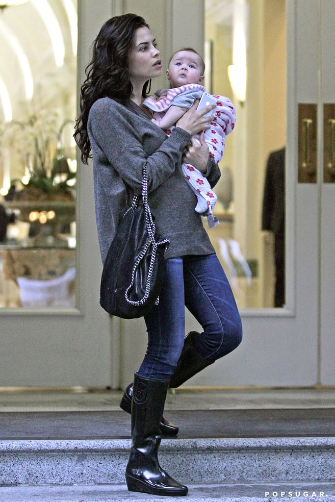 Jenna Dewan and 4-month-old Everly were spotted in Vancouver on Sunday.