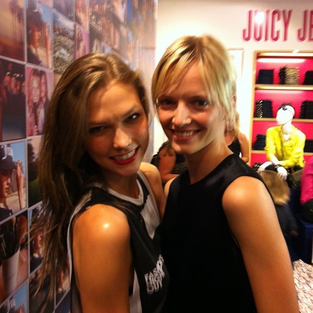 Karlie Kloss and Daria Strokous