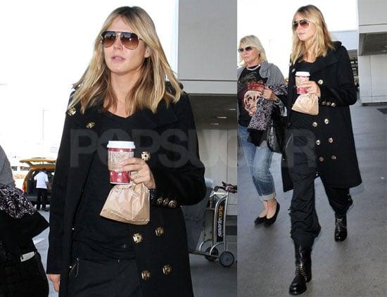 Photos of Heidi Klum Landing At LAX After Hosting Victoria's Secret Runway Show