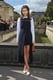 Editor Dasha Zhukova played with stark high-low hems, but ultimately kept the focus on her crisp white pumps.