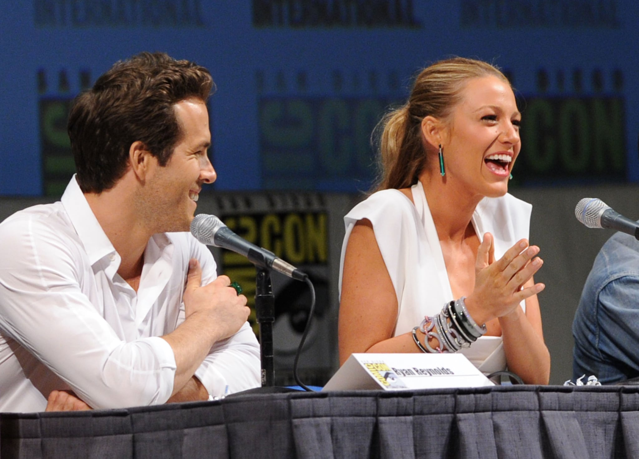 They weren't married yet, but Ryan Reynolds and Blake Lively showed tons of chemistry while promoting Green Lantern together in 2010.