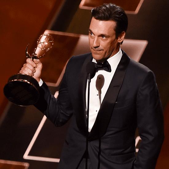 Jon Hamm Thanks His Dog and Ex-Girlfriend in an Emotional Emmys Speech