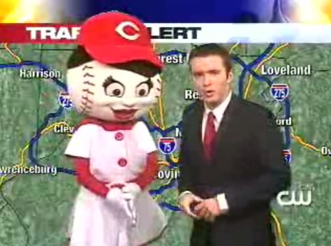 Weatherman Really Loves the Cincinnati Reds — or Drugs