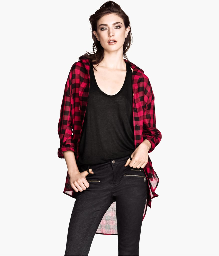 Get your grunge on with the help of H&M's checkered shirt ($40).