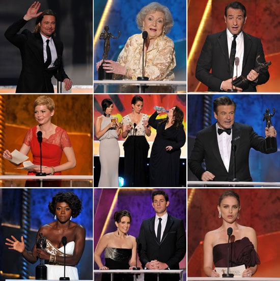 The Help's Win, Love For 30 Rock and Modern Family, a Scorsese Drinking Game —Highlights From the SAG Awards!