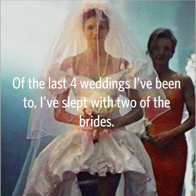Sounds like some eventful weddings.