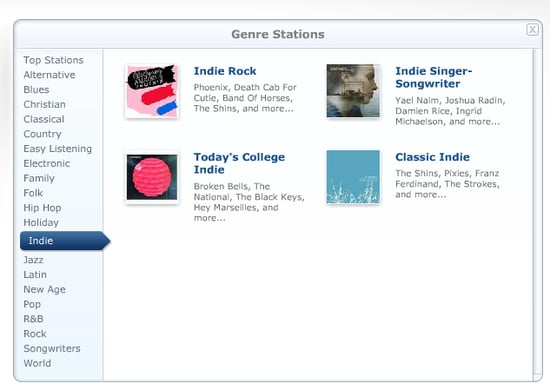 Pandora Introduces Genres