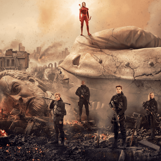 Mockingjay — Part 2 Poster With President Snow Statue