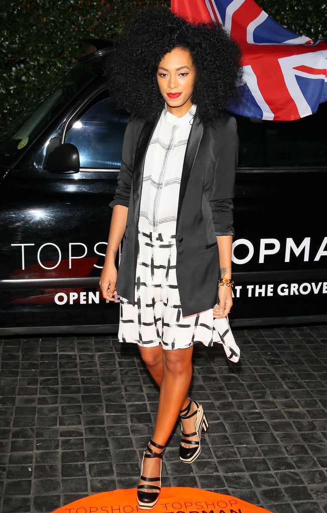 Solange Knowles went for a relaxed look.
