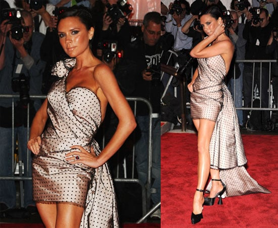 Victoria Beckham Puts Her Best Leg Forward in Polka Dots