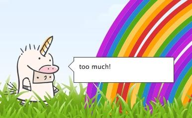 Blippy 404 Error Double Rainbow Unicorn