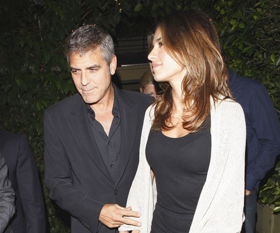 Slide Picture of George Clooney Leaving Dinner in LA With Elisabetta Canalis