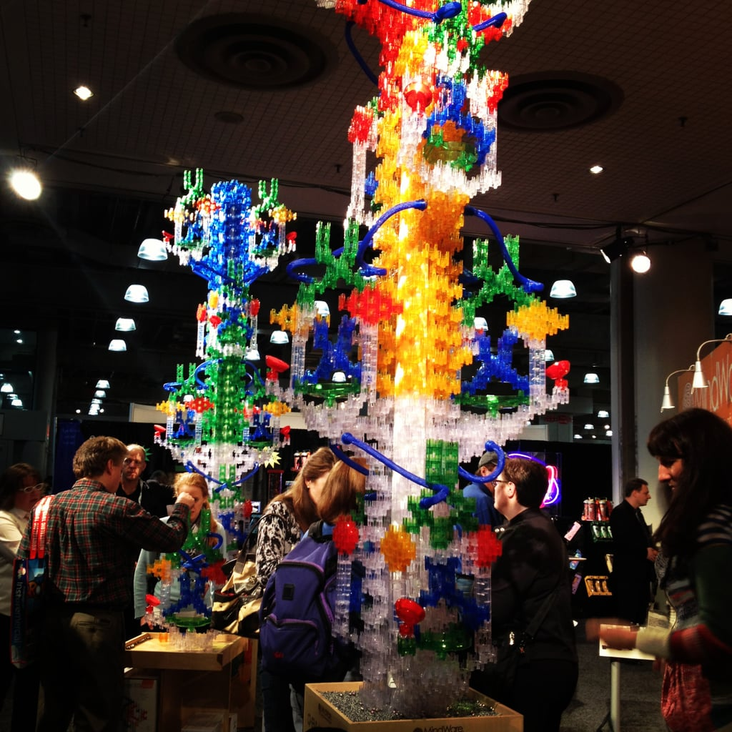 Marble runs reached new heights at Toy Fair.