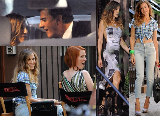 Sarah Jessica Parker, Chris Noth, Cynthia Nixon Filming Sex and the City 2