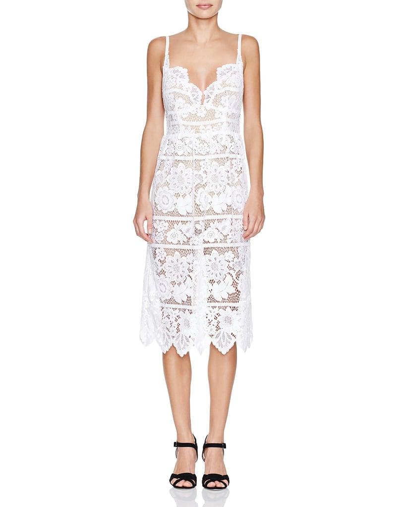 For Love & Lemons Gianna Lace Midi Dress ($260)
