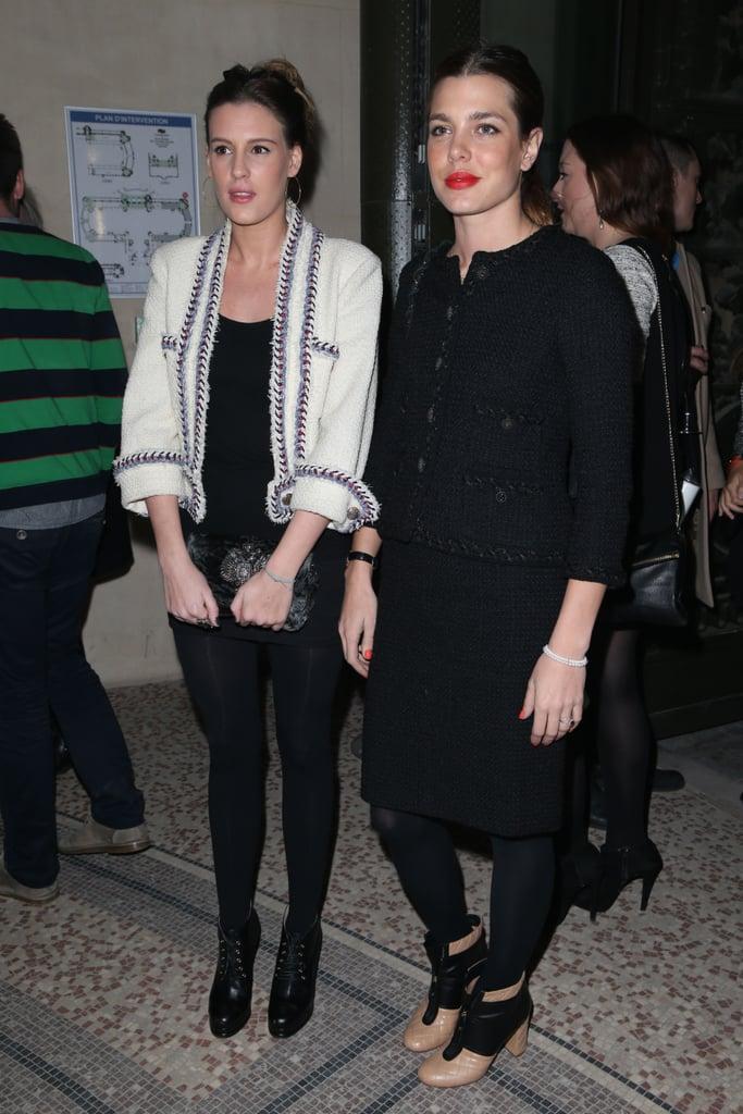 Juliette Mayol and Charlotte Casiraghi