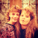 "Andrea: ""#TBT 1988 @candacecbure Back before we started doing funny face selfies...we were doing funny face selfies."""