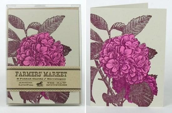 The Card Shop: Hydrangea Letterpress Notecards