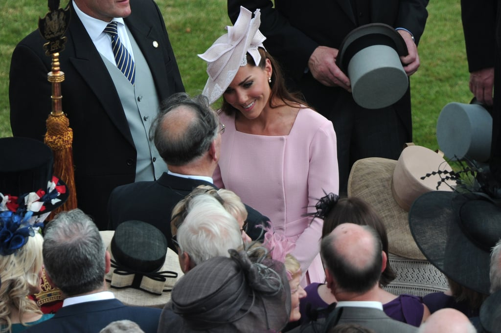 Kate Middleton chatted with guests at the garden party.