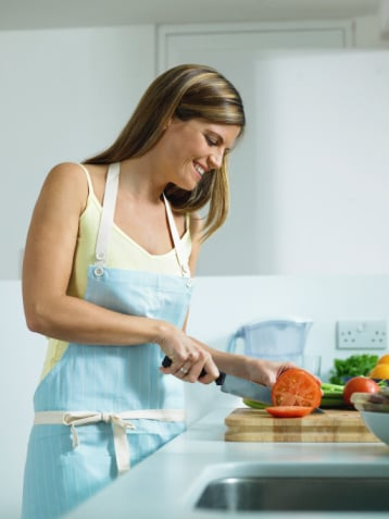 Slice Fruits and Veggies in Advance For Salads and Snacks