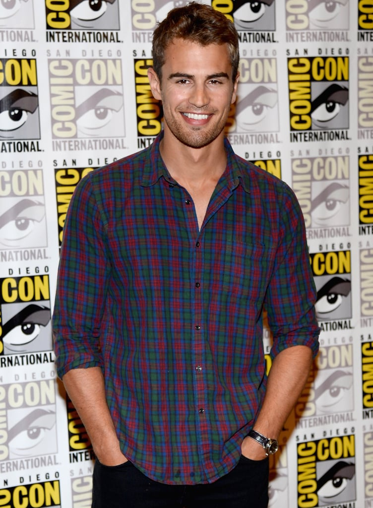 Theo James James is already raising temperatures in the first looks at Divergent, in which he plays a sexy instructor who falls for his student. That's pretty much what happens in Fifty Shades, only dirtier.