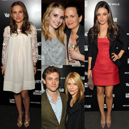 Pictures of Pregnant Natalie Portman and Mila Kunis at Fox Searchlight Party 2011-02-25 04:45:00