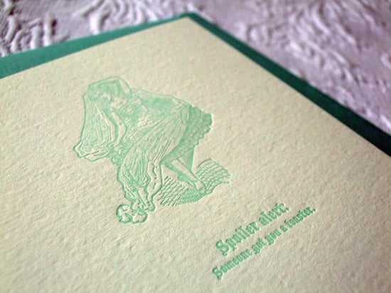 The Card Shop: Letterpress Wedding Card