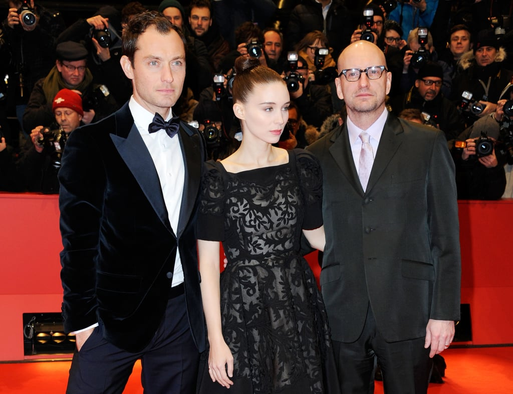 Side Effects actors Jude Law and Rooney Mara took pictures with director Steven Soderbergh on Tuesday night at the Berlin Film Festival.