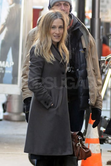 Pictures of Sarah Jessica Parker and Olivia Munn on the Set of I Don't Know How She Does It in NYC
