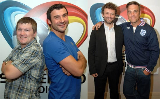Pictures of Soccer Aid 2010 Teams Robbie Williams, Michael Sheen, Ricky Hatton and Joe Calzaghe