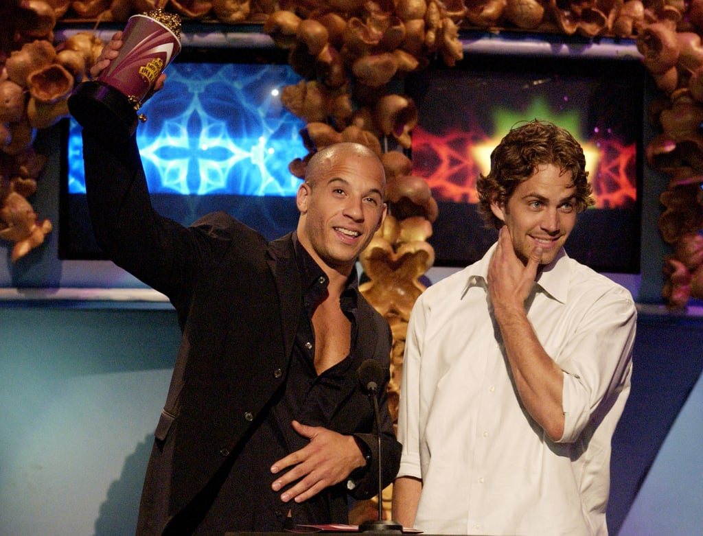Paul and Vin Diesel accepted a statue together at the MTV Movie Awards in LA in June 2002.