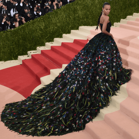 Best Photos of Zoe Saldana's Dress at Met Gala 2016
