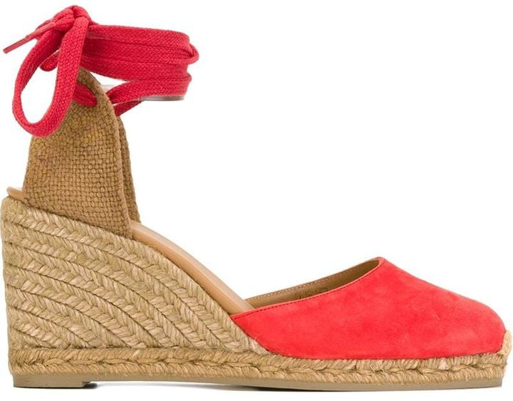 Casta?er Lace-Up Wedge Espadrilles ($141)