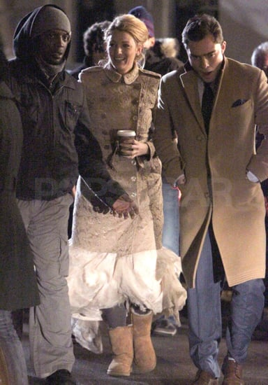 Gossip Girl costars Blake Lively and Ed Westwick shot together in Manhattan.