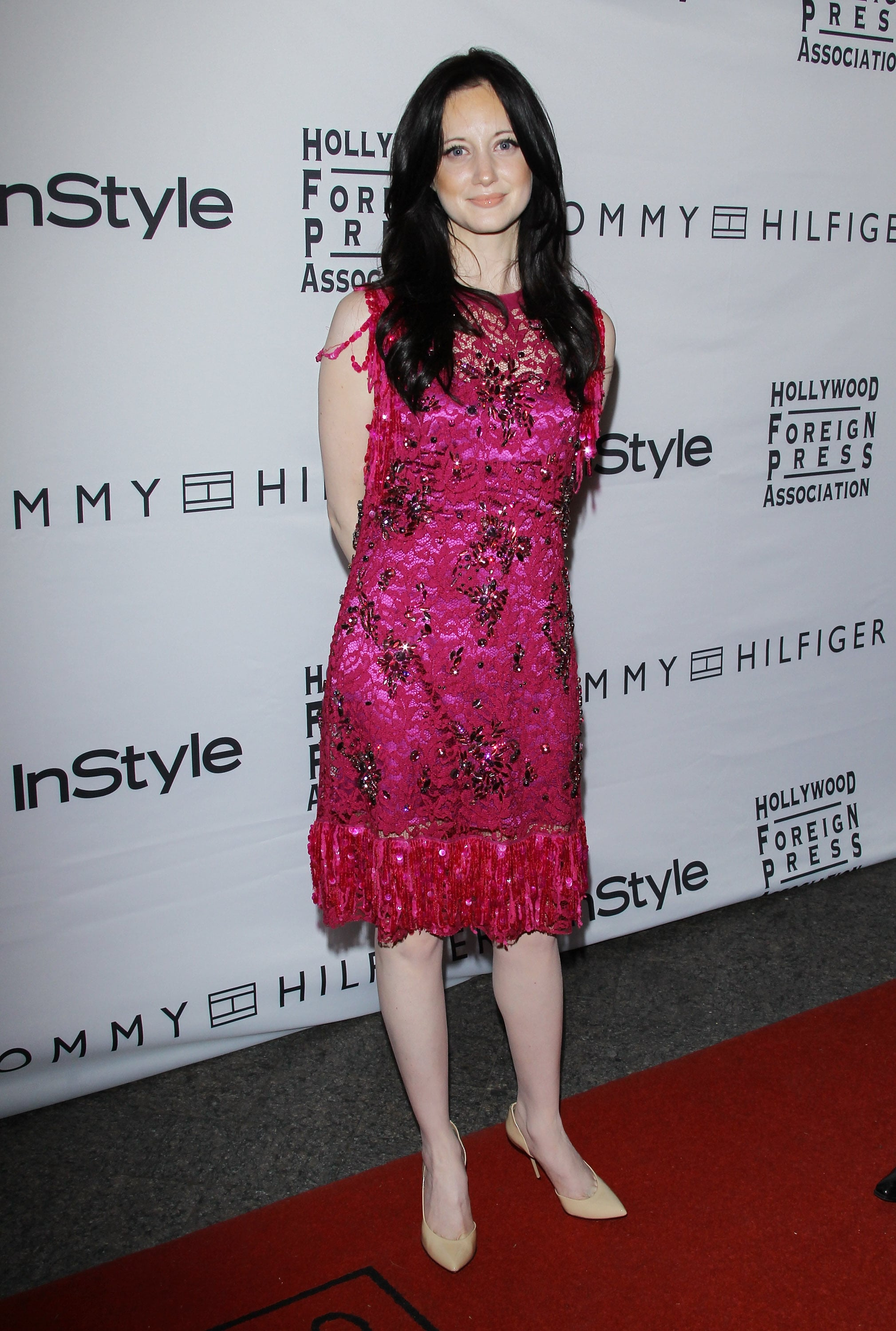 Andrea Riseborough joined InStyle at the Toronto Film Festival in a pretty pink design.