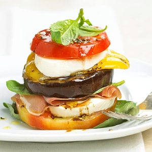 Fast & Easy Dinner: Tomato and Grilled Veggie Stack