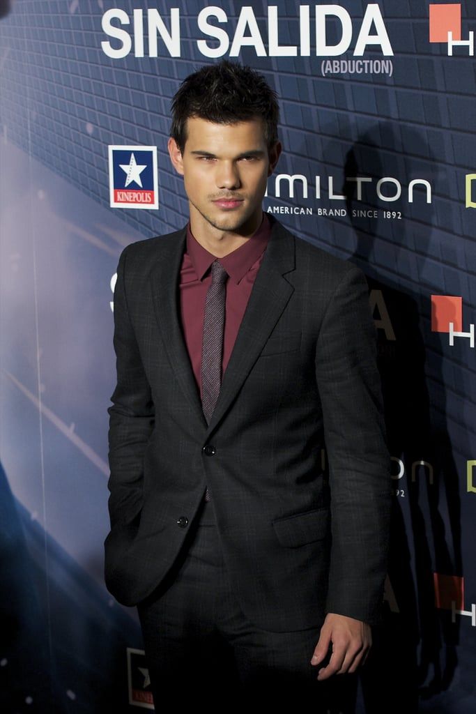 Taylor Lautner attends another Abduction premiere, this time in Madrid on Sept. 29.