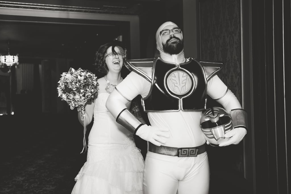 It's Morphin' Time! The White Ranger Makes an Appearance at the Cutest Nuptials