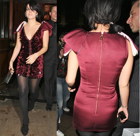 Lily Allen at the Morgan Awards in London in Red Dress