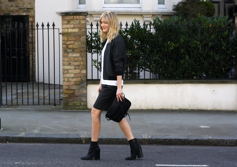The most polished way to flash a little leg: in a relaxed Tibi shorts suit and finished with a pair of ankle booties. Source: Lookbook.nu