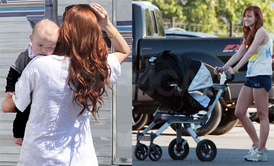 Photos of Ashlee Simpson and Bronx Wentz Filming Melrose Place