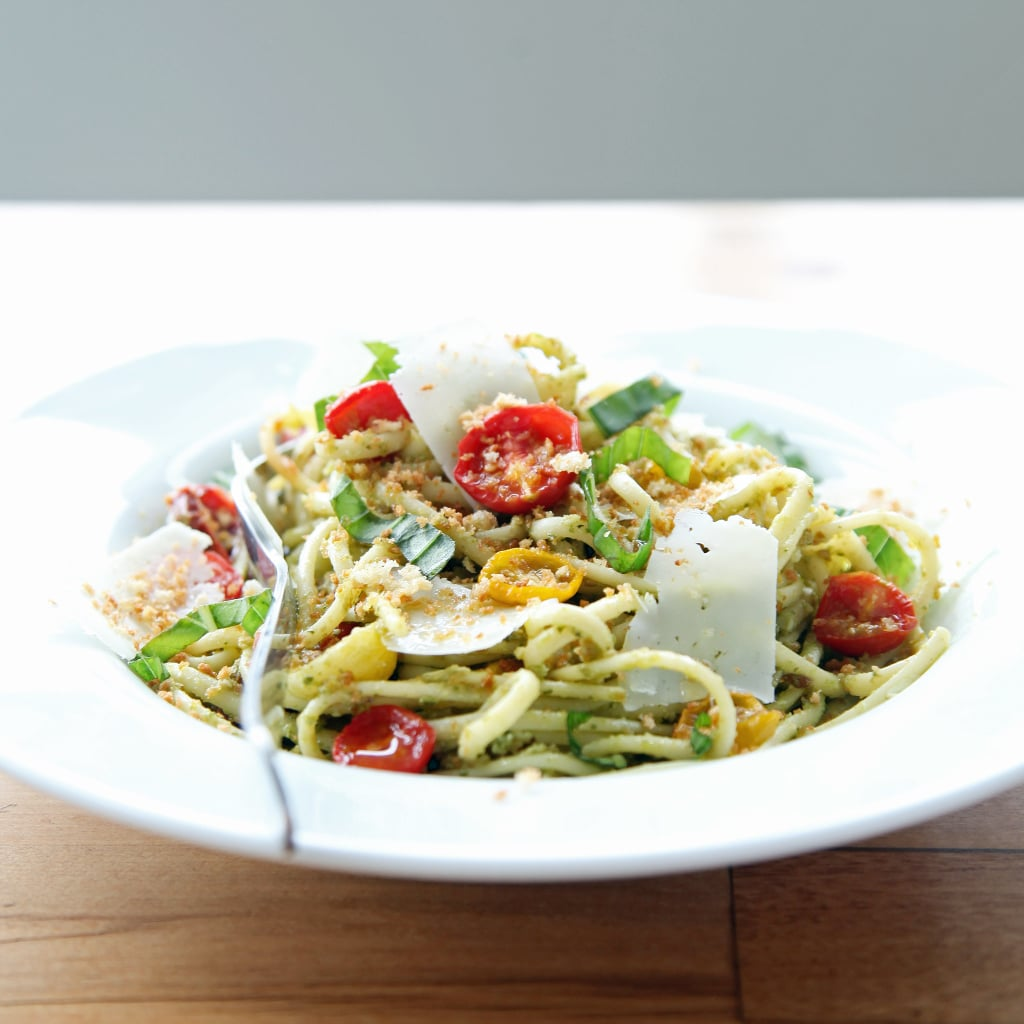 Seriously Indulgent: Pasta With Pesto and Roasted Tomatoes
