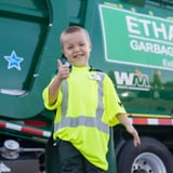 This Sick Little Boy's 1 Wish Came True - When He Got to Be a Garbage Man For the Day