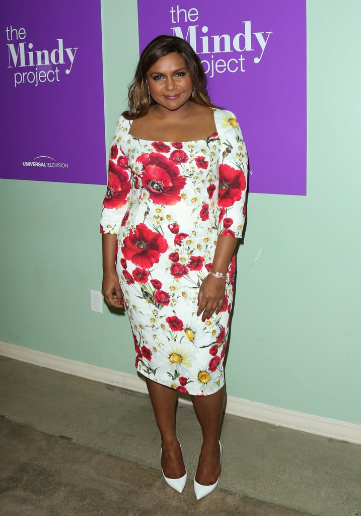Wearing floral Dolce & Gabbana for the FYC panel for The Mindy Project in LA in June 2016.